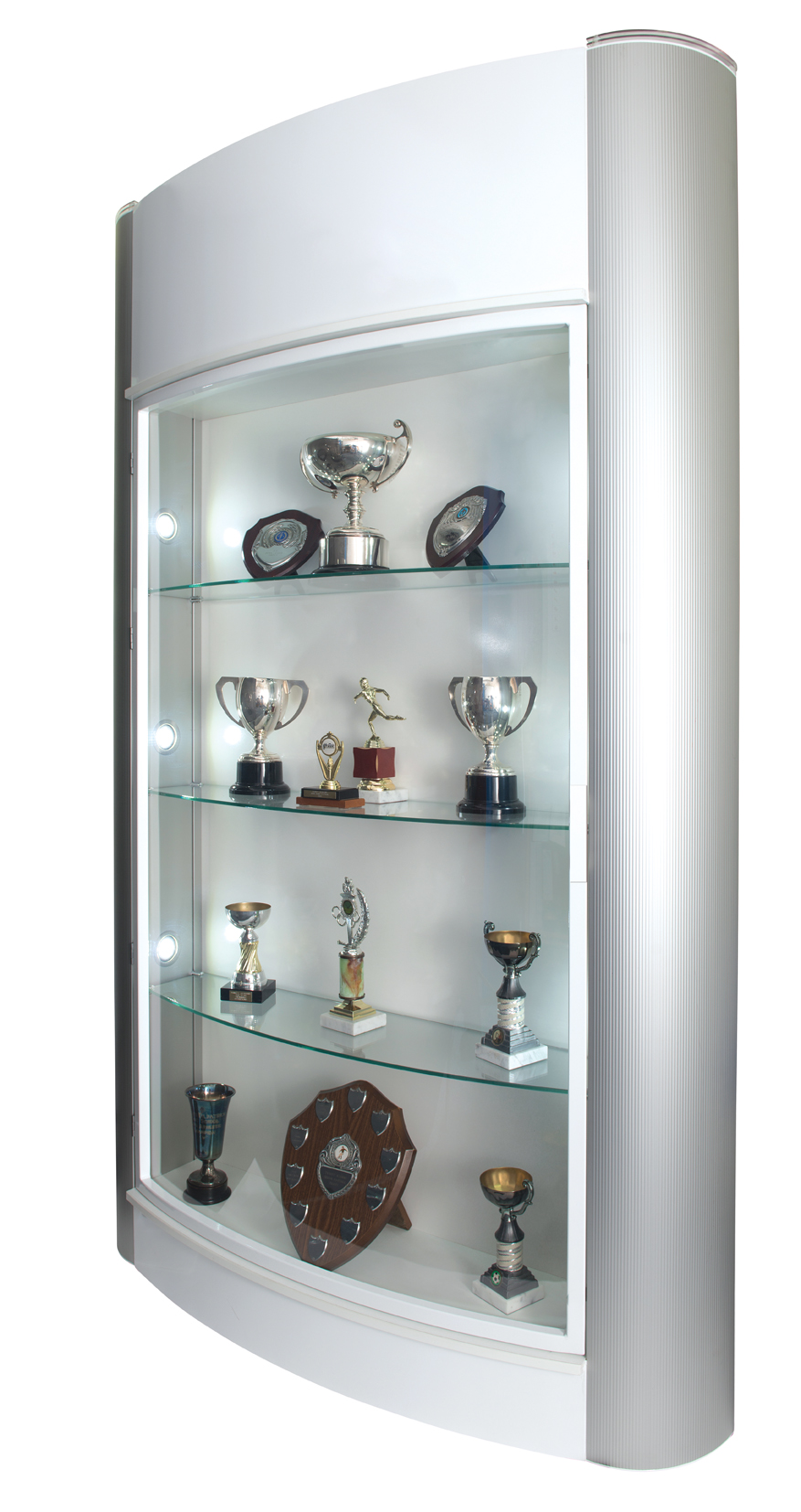 showcase trophy showcase display cabinet floor standing led lights